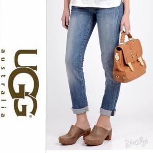 UGG Suede Abbie Slide Mule Clog Brown 9
